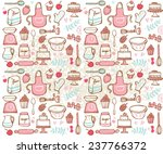 baking kitchen icons seamless... | Shutterstock .eps vector #237766372