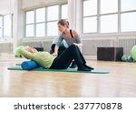 senior woman performing back... | Shutterstock . vector #237770878