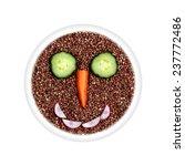 health food   buckwheat with...   Shutterstock . vector #237772486