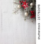 Fir Branch With Christmas...