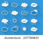 flat weather icons set