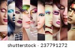 beauty collage. faces of women... | Shutterstock . vector #237791272