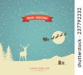 holiday card  winter landscape... | Shutterstock .eps vector #237792232