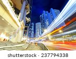 night scene of modern city ...   Shutterstock . vector #237794338