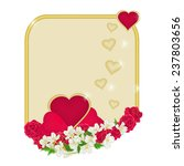 valentine's day frame of hearts ...   Shutterstock .eps vector #237803656