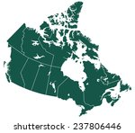 silhouette provinces map of the ... | Shutterstock .eps vector #237806446