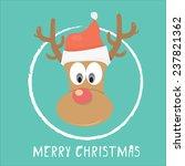 vector cartoon christmas... | Shutterstock .eps vector #237821362