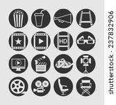 cinema icons for web   Shutterstock .eps vector #237832906