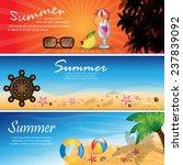 summer flyer template   vector... | Shutterstock .eps vector #237839092