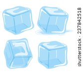 Ice Cubes. Vector Illustration...