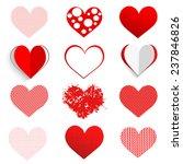 vector hearts set | Shutterstock .eps vector #237846826
