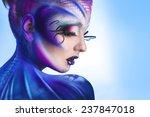 creative portrait of young... | Shutterstock . vector #237847018