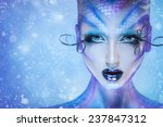 gorgeous fashion portrait of...   Shutterstock . vector #237847312
