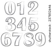 illustration  with  numbers on... | Shutterstock . vector #237852646