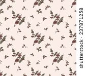seamless vintage floral pattern ... | Shutterstock .eps vector #237871258