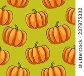 pumpkins seamless pattern   ... | Shutterstock . vector #237875332