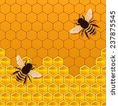 bee honeycomb background   ... | Shutterstock . vector #237875545