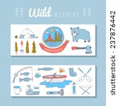 camping adventure set. eps 10.... | Shutterstock .eps vector #237876442