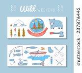 camping adventure set. eps 10.... | Shutterstock .eps vector #237876442