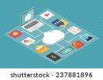 cloud service concept ... | Shutterstock .eps vector #237881896