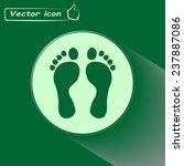vector illustration foot | Shutterstock .eps vector #237887086