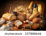 Country Still Life With Bread ...