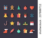 set of christmas icons isolated....