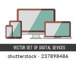 vector set of digital devices  | Shutterstock .eps vector #237898486