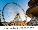 Ferris Wheel At Evening With A...