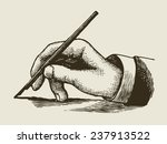 vintage writing hand engraved... | Shutterstock .eps vector #237913522