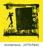 music frame with actor and icons | Shutterstock .eps vector #237919642