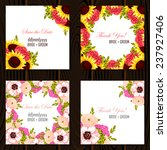 wedding invitation cards with... | Shutterstock .eps vector #237927406