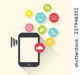 illustration smart phone device ... | Shutterstock .eps vector #237948352