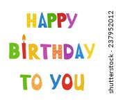 greeting card with text happy... | Shutterstock .eps vector #237952012