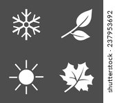 Vector Set Of White Seasons...