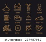 set of icons on the sewing... | Shutterstock .eps vector #237957952