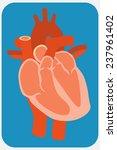 human heart. flat design style... | Shutterstock . vector #237961402