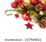 christmas background with a red ... | Shutterstock . vector #237964822