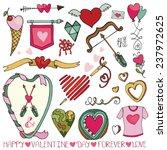 valentine's day wedding love... | Shutterstock .eps vector #237972625