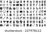 set of 120  one hundred twenty  ... | Shutterstock .eps vector #237978112