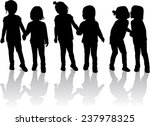 children silhouettes   Shutterstock .eps vector #237978325
