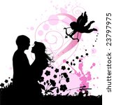 valentine's background with... | Shutterstock .eps vector #23797975