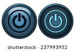 blue round power button  on and ... | Shutterstock .eps vector #237993952