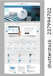 modern clean one page website... | Shutterstock .eps vector #237994702