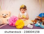 beautiful child enjoying life.... | Shutterstock . vector #238004158