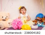 beautiful child enjoying life.... | Shutterstock . vector #238004182