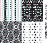 seamless geometric aztec tribal ... | Shutterstock .eps vector #238011442
