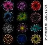 fireworks set on black... | Shutterstock .eps vector #238011706