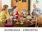 happy multigeneration family... | Shutterstock . vector #238018762