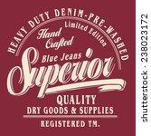 denim typography  t shirt... | Shutterstock .eps vector #238023172